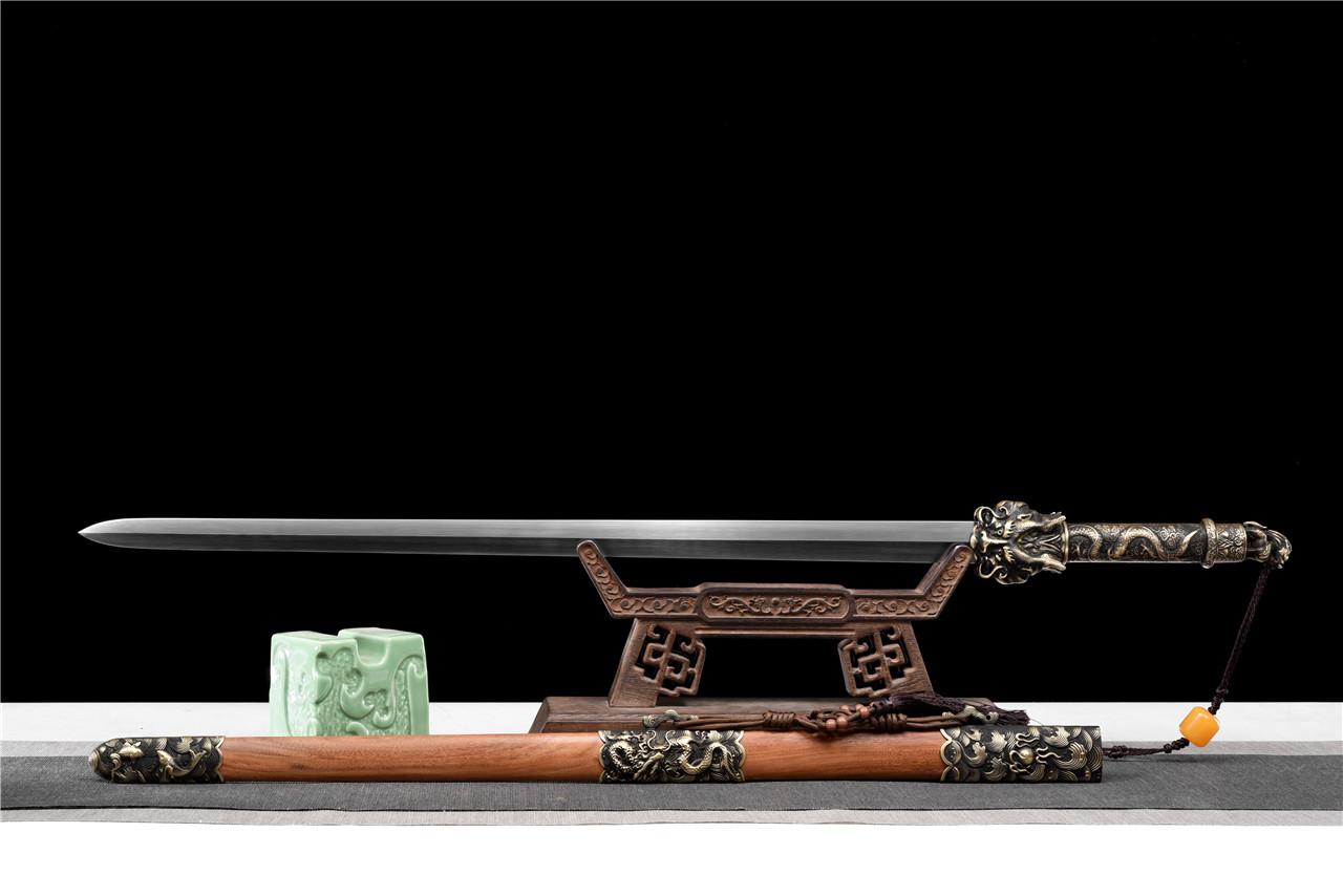 百炼花纹钢天龙神剑|龙泉刀剑|百炼花纹钢,龙泉宝剑,中国宝剑,龙泉天元剑铺,宝剑图片