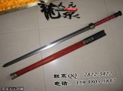 红木四面汉剑|汉剑|花纹钢|★★★|