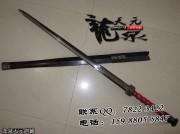 地肌黑檀八面汉剑|汉剑|花纹钢|★★★★|
