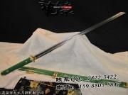 绿鱼皮弧造简装唐刀|唐刀|花纹钢烧造|★★★★