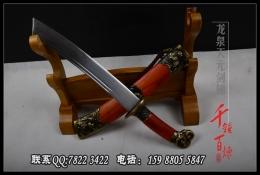 红木款锦衣卫近身宝刀|明清刀|高碳花纹钢|★★