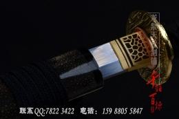 全鱼皮手锻钢烧刃武士刀|武士刀|花纹钢|★★★★