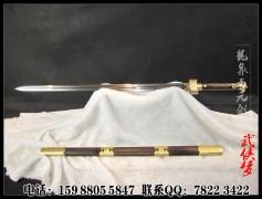 手工长款双槽秦剑|龙泉剑|花纹钢|★★★