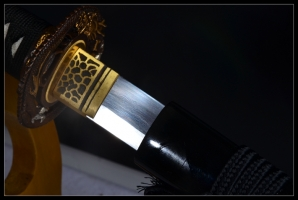 花纹钢烧刃肋差|武士刀|花纹钢烧刃|★★★