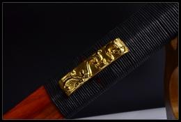 红木四面汉剑|汉剑|高碳钢|★★