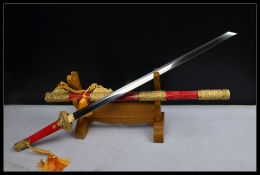 红珍珠鱼皮豪华唐刀升级版 高碳钢烧刃 唐刀 ★★★★