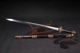 紫衣龙泉剑|羽毛纹花纹钢|龙泉宝剑|★★★★