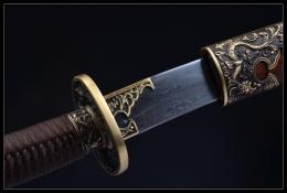 御龙清佩刀|花纹钢|清刀