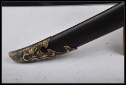 御龙清佩刀(黑檀木鞘版)|花纹钢|清刀|★★★