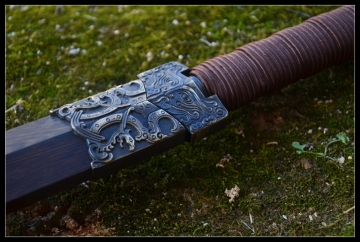 扁柄四面汉武精工剑|汉剑|花纹钢|★★★
