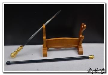 金属头手杖剑 不开刃
