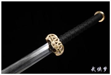 夹钢儡具八面汉剑|花纹钢|汉剑★★★