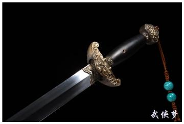 经典乾隆佩剑|龙泉剑|花纹钢|★★★