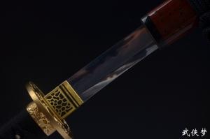 三枚合烧刃上研武士刀|武士刀|花纹钢|★★★