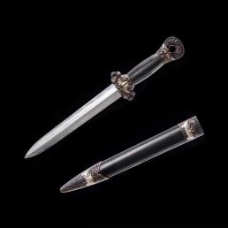 羽毛纹精装虞帝剑|龙泉宝剑|花纹钢