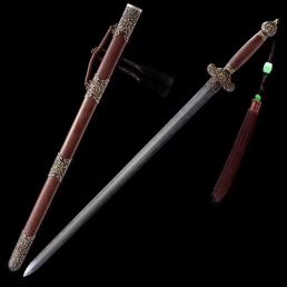 贯霄宝剑|龙泉剑|花纹钢烧刃|★★★★