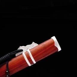 游龙红木简装唐刀|高碳钢|唐刀