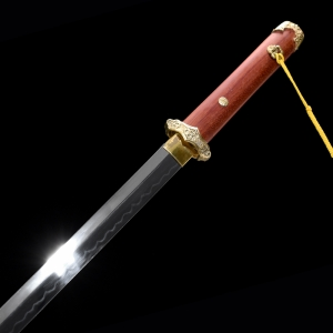 红木烧刃宽刃唐刀|唐刀|高碳钢t10烧刃|★★★