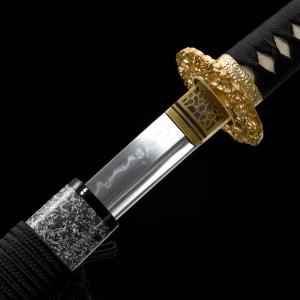 云龙碎焰纹烧刃武士刀|高碳钢T10烧刃|武士刀|★★★