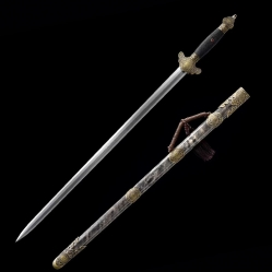 精品传统太极八卦八面剑|龙泉宝剑|花纹钢|★★★★
