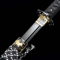 发黑真樋烧刃武士刀|武士刀|高碳钢t10烧刃|★★★